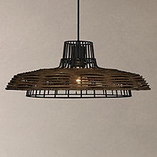 Buy John Lewis Ayo Raffia Weave Ceiling Light, Dark Brown Online at johnlewis.com