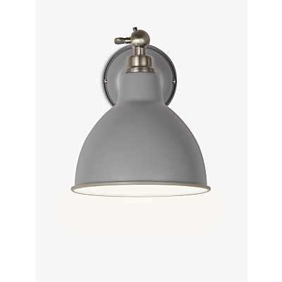 John Lewis Aiden Wall Light, Grey