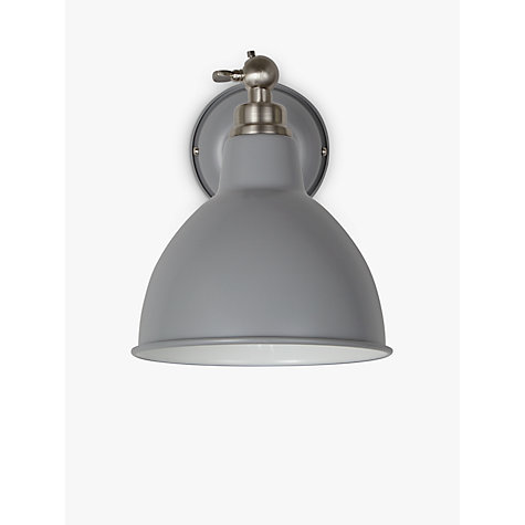 Buy john lewis aiden wall light grey john lewis for Kitchen lighting ideas john lewis