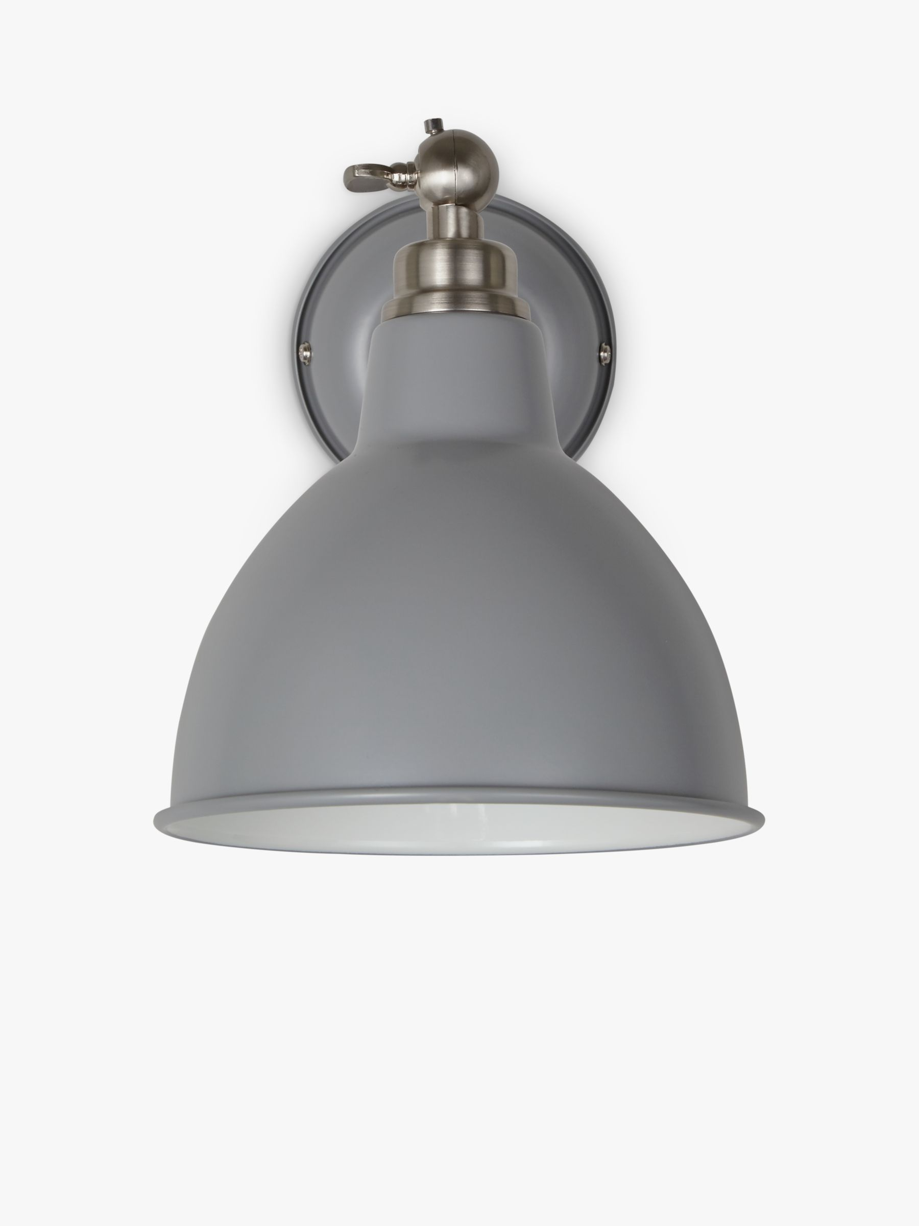 Buy John Lewis Aiden Wall Light, Grey John Lewis