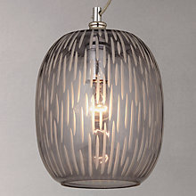 Buy John Lewis Agatha Smoked Carved Glass Ceiling Light, Grey Online at johnlewis.com