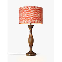 Buy John Lewis Albert Turned Stick Lamp Base, Tall, Dark Wood Online at johnlewis.com