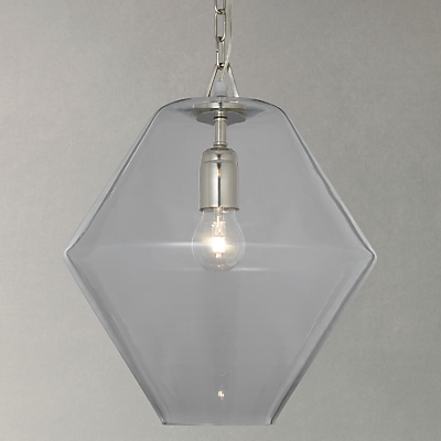 John Lewis Axel Glass Pendant Ceiling Light, Clear
