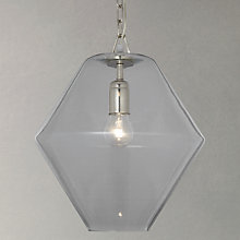 Buy John Lewis Axel Glass Pendant Ceiling Light, Clear Online at johnlewis.com