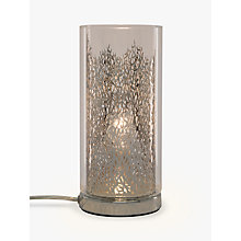 Buy John Lewis Blakeley Clear Glass & Metal Touch Table Lamp, Clear Online at johnlewis.com