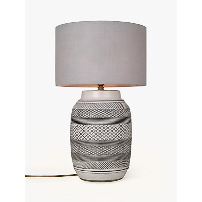 John Lewis Ashanti Lamp Base, Stoneware/Black