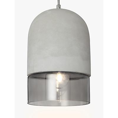 John Lewis Atlas Ceiling Light, Concrete/Smoke Glass