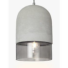 Buy John Lewis Atlas Ceiling Light, Concrete/Smoke Glass Online at johnlewis.com