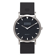 Buy Shore Projects W001S027 Unisex Whitstable Silicone Strap Watch, Black Online at johnlewis.com