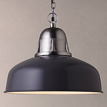 Buy John Lewis Braxton Factory Pendant Light, Grey Online at johnlewis.com