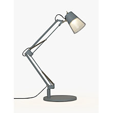 Buy John Lewis Cormack LED Architect Table Lamp, Blue Grey Online at johnlewis.com