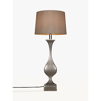 John Lewis Desta Console Lamp Base, Nickel