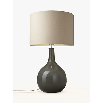 John Lewis Faye Shaped Glass Table Lamp, Grey