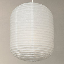 Buy House by John Lewis Paper Barrel Ceiling Light, White, 35cm Online at johnlewis.com