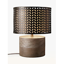 Buy John Lewis Idris Wood and Metal Fret Table Lamp, Bronze Online at johnlewis.com