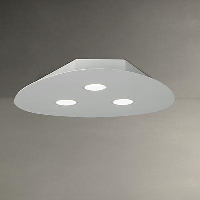John Lewis Lex LED Flush Spotlight, 3 Light, White
