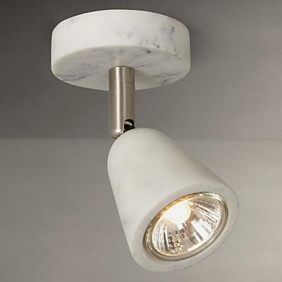 John Lewis Marble Effect GU10 LED Spotlight, Grey