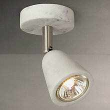 Buy John Lewis Marble Effect GU10 LED Spotlight, Grey Online at johnlewis.com