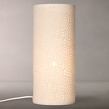Buy John Lewis Laney Vessel Table Lamp, White Online at johnlewis.com