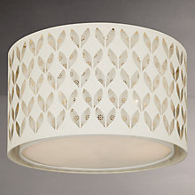 Buy John Lewis Mae 2 Layer Shade Ceiling Light, White/Silver Online at johnlewis.com