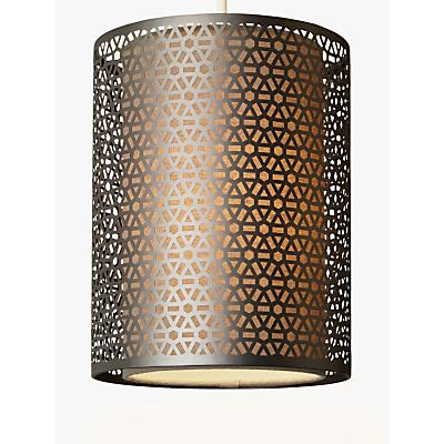 John Lewis Meena Pendant Light, Brushed Steel