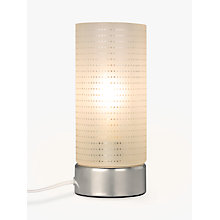 Buy John Lewis Brad Etch Spot Touch Table Lamp, White Online at johnlewis.com