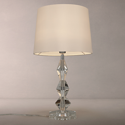 John Lewis Clarissa Hex Crystal Stack Table Lamp, White