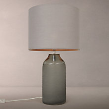 Buy John Lewis Brea Scratched Glass Table Lamp, Grey Online at johnlewis.com