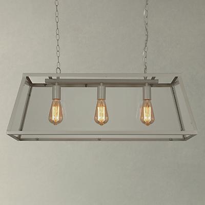 John Lewis Chester Glazed Frame Triple Ceiling Light
