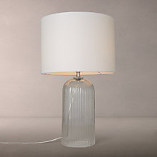 Buy John Lewis Charles Ribbed Glass Table Lamp, Clear/White Online at johnlewis.com