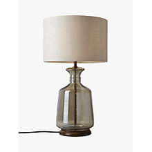 Buy John Lewis Dinka Smoke Glass with Foot Lamp Base, Smoke Online at johnlewis.com