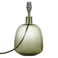 Buy John Lewis Croft Collection Gilroy Tall Lamp Base, Green Online at johnlewis.com