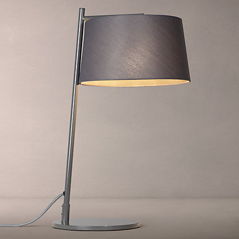 Buy john lewis grayson woven shade table lamp grey john for Table lamp shades john lewis