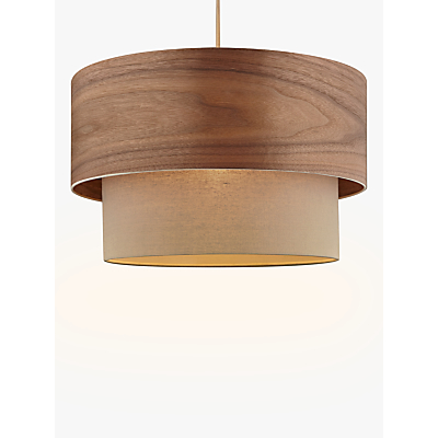 Design Project by John Lewis No.028 Ceiling Light, Walnut Veneer/Grey