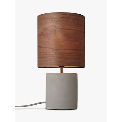 Design Project by John Lewis No.047 Table Lamp, Walnut Veneer