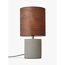 Buy Design Project by John Lewis No.047 Table Lamp, Walnut Veneer Online at johnlewis.com
