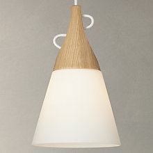 Buy John Lewis Ezra Oak and Opal Glass Ceiling Light, White Online at johnlewis.com