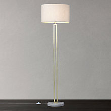 Buy John Lewis Emmerson Marble Base Floor Lamp, Satin Brass Online at johnlewis.com