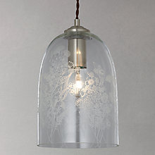 Buy John Lewis Madeline Etched Glass Pendant Ceiling Light, Clear Online at johnlewis.com