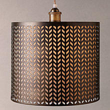 Buy John Lewis Idris Fretwork Shade Pendant Ceiling Light, Brass Online at johnlewis.com