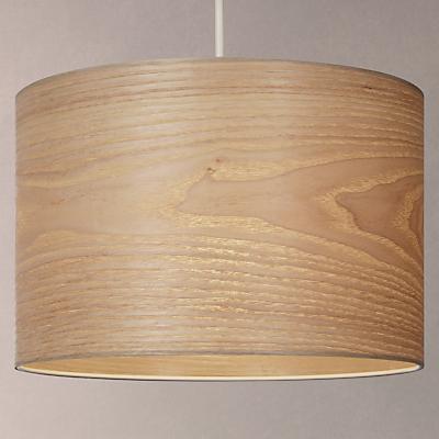 House by John Lewis Marny Wood Veneer Shade Ceiling Light, Brown/Natural