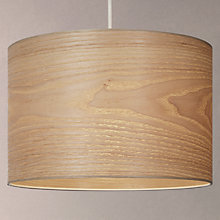 Buy House by John Lewis Marny Wood Veneer Shade Ceiling Light, Brown/Natural Online at johnlewis.com
