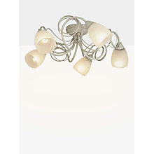 Buy John Lewis Maisie Semi Flush Ceiling Light, 5 Light, Ivory Online at johnlewis.com