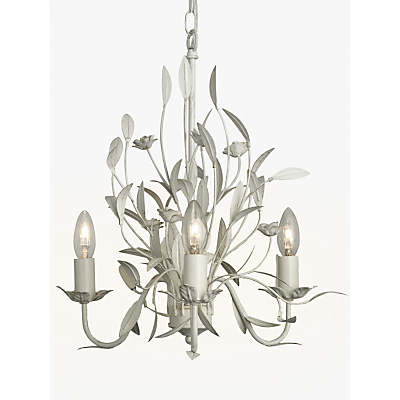 John Lewis Lily Ceiling Light, 3 Arm, Ivory