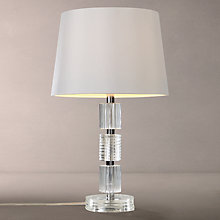 Buy John Lewis Melinda Column Glass Stack Table Lamp, Clear Online at johnlewis.com
