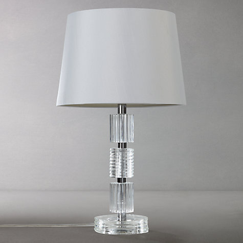 buy john lewis melinda column glass stack table lamp