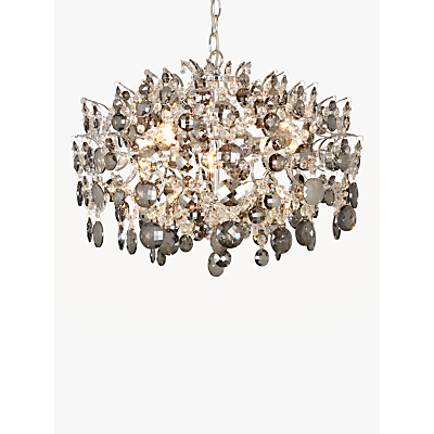 John Lewis Paris Smoke & Clear Crystal Ceiling Light