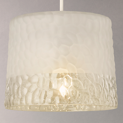 John Lewis Petra Frosted Pebble Glass Ceiling Light