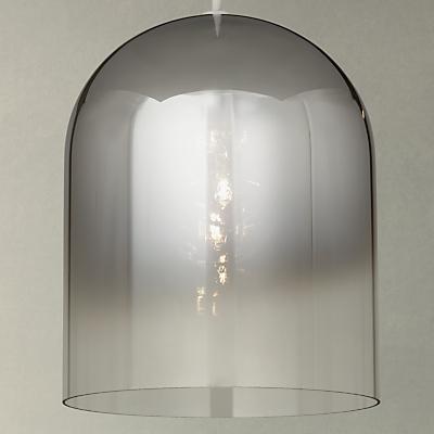 John Lewis Saks Ombre Pewter Glass Ceiling Light, Clear/Black