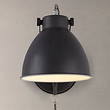 Buy John Lewis Norton Wall Light with Cable, Graphite Online at johnlewis.com
